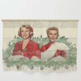 Sisters - A Merry White Christmas Wall Hanging