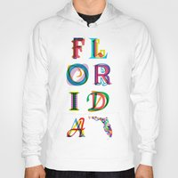 florida Hoodies featuring Florida by Fimbis