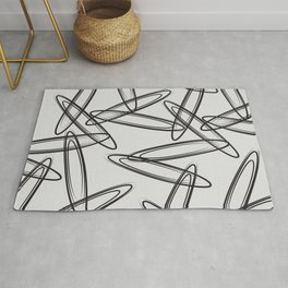 color field - black and grey Rug