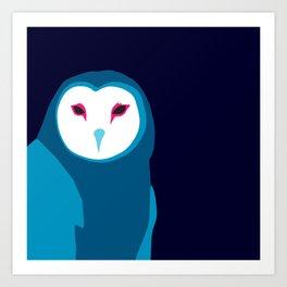 Fancy Owl Art Print