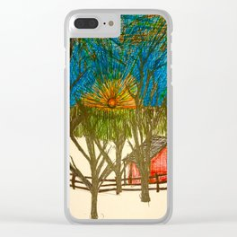Front yard sunset Clear iPhone Case