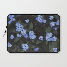 Blue Dark Floral Garden: Forget-me-nots Laptop Sleeve
