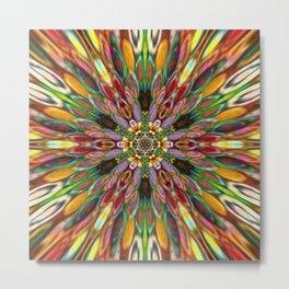 Multicolour Starburst 11 Metal Print