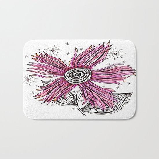 My Funky Valenting - Zentangle Pink Flower Bath Mat
