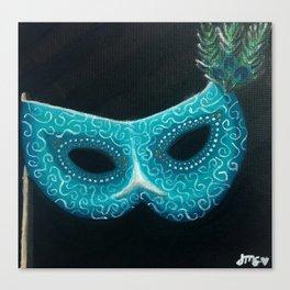 Peacock Masquerade Canvas Print