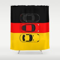 german Shower Curtains featuring German Horsepower by Blayde