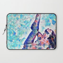 3047-JPC Abstract Nude in Blue Green Yoga Stretch Feminine Power Laptop Sleeve