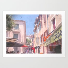 Taking The Back Alley Art Print