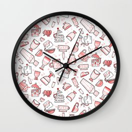 Filled with Holiday Spirit Christmas Cups Wall Clock