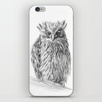 buffy iPhone & iPod Skins featuring The Buffy Fish Owl by Asya Mitskevich