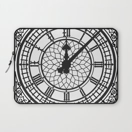 Big Ben, Clock Face, Intricate Vintage Timepiece Watch Laptop Sleeve