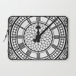 Big Ben, Clock Face, Intricate Vintage Timepiece Watch Laptop Sleeve