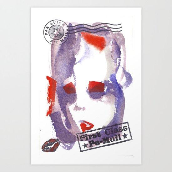 First Class Mail Art Print