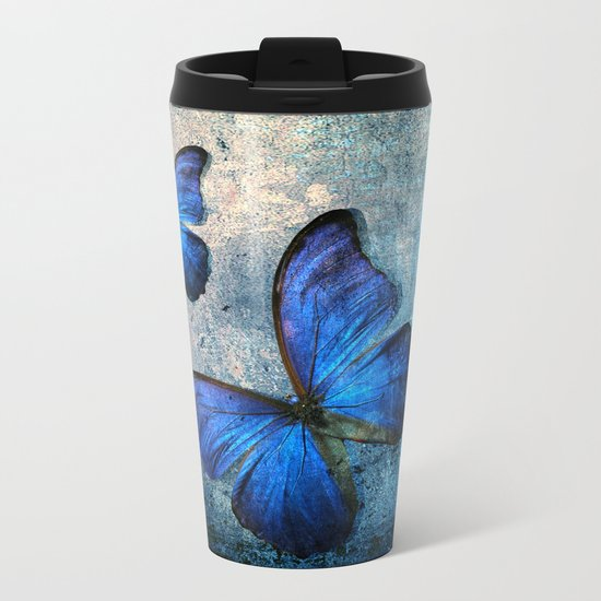butterfly Metal Travel Mug