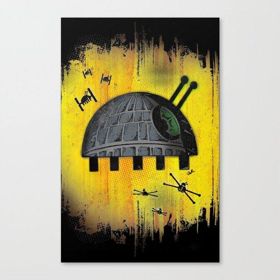 Death Star Bug – Yellow background Canvas Print