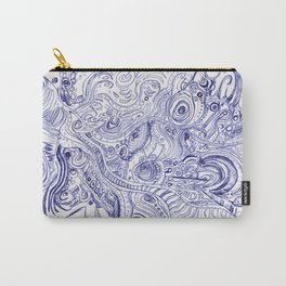 Blue Ink Carry-All Pouch