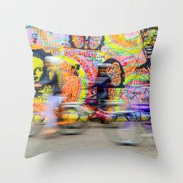 Colourful Berlin Wall Throw Pillow