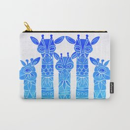 Giraffes – Blue Ombré Carry-All Pouch