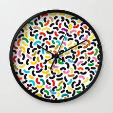 colored worms Wall Clock