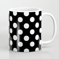 polka Mugs featuring Polka Dots (White/Black) by 10813 Apparel
