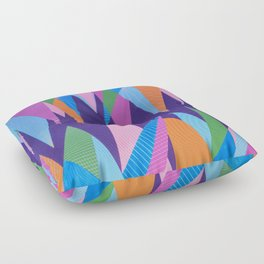 Crystal Stalagmites Floor Pillow