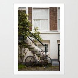 Bike_in_Ams Art Print