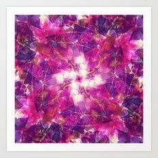 Pink Floral Mandala Art Print
