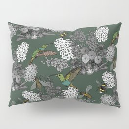Hummingbirds and Bees (don't let them fade away) Pillow Sham