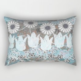Florals in Neutral Rectangular Pillow