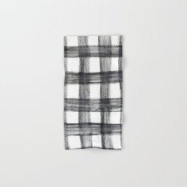 Black and White Buffalo Plaid Hand & Bath Towel