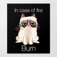 grumpy Canvas Prints featuring Grumpy  by Blaze-chan