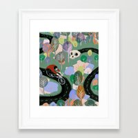 monty python Framed Art Prints featuring Monty by Victoria Borges