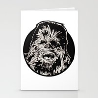 chewbacca Stationery Cards featuring Chewbacca by LaurenNoakes