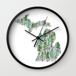 Michigan Forest Wall Clock