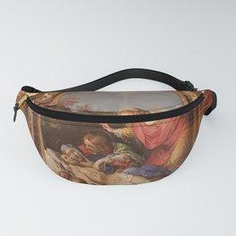 Annibale Carracci - Portable Altarpiece with Pieta and Saints Fanny Pack