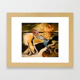 An open interpretation of Dali's Tristan and Isolde Framed Art Print