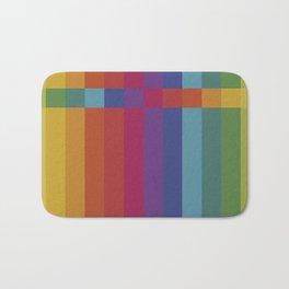 The Color Wheel / Rainbow Stripes Bath Mat