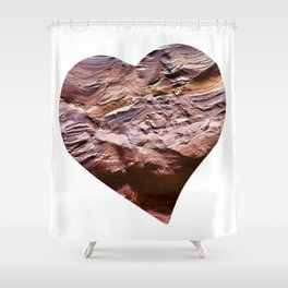Heart Shape Stone Art Shower Curtain