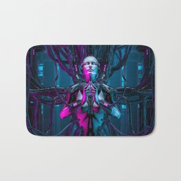 The Quantum Zen Queen Bath Mat