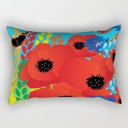 CORNFIELD with BUTTERFLIES Rectangular Pillow