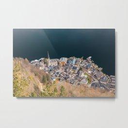 Hallstatt in Austria as seen from the skywalk Metal Print
