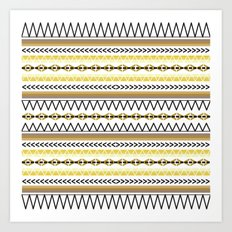 Tribal Gold Art Print