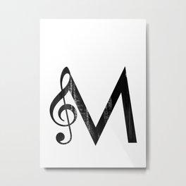 M - Music Metal Print