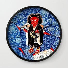 Japanese Bad Hair Day Wall Clock