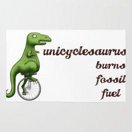 Unicyclesaurus: Burning Fossil Fuel Rug