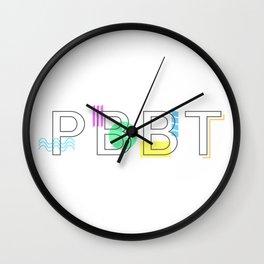 PBBT Color Wall Clock