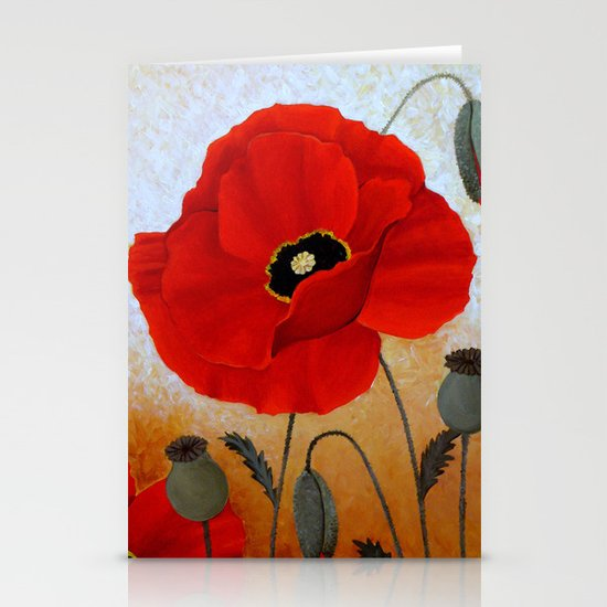 POPPIES I Stationery Cards