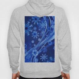 Blue Snowflakes Winter Hoody