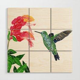 Hummingbird Wood Wall Art