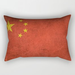 Old and Worn Distressed Vintage Flag of China Rectangular Pillow